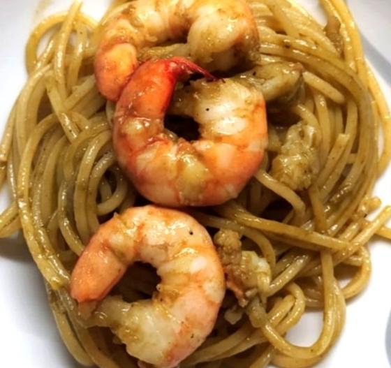 Piatto Spaghetti Paruch e Gamberetti