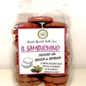 Frollino biscotti con confettura di sambuca