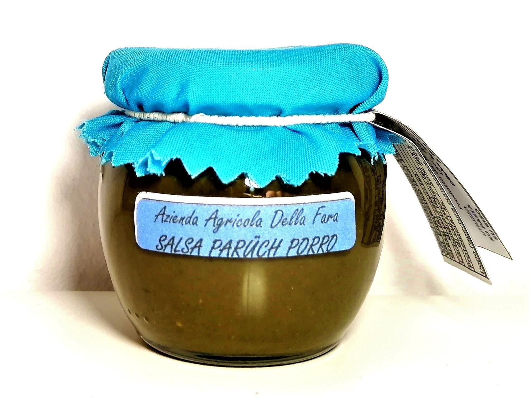 Vasetto salsa di paruch e porro